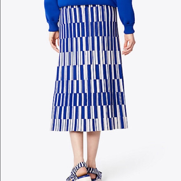 618dcff87 Tory Burch Skirts | Tory Sport Tech Knit Motley Check Pleated Skirt ...